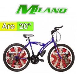 "Bici Aro 20"" Torino 20 - Milano - Mercury Azul"