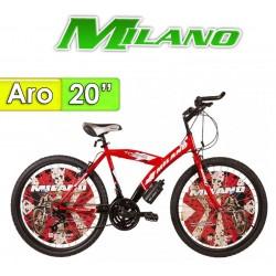 "Bici Aro 20"" Torino 20 - Milano - Mercury Rojo"