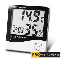 Termohigrometro Digital LCD - Pro Instruments - temperatura y humedad interior