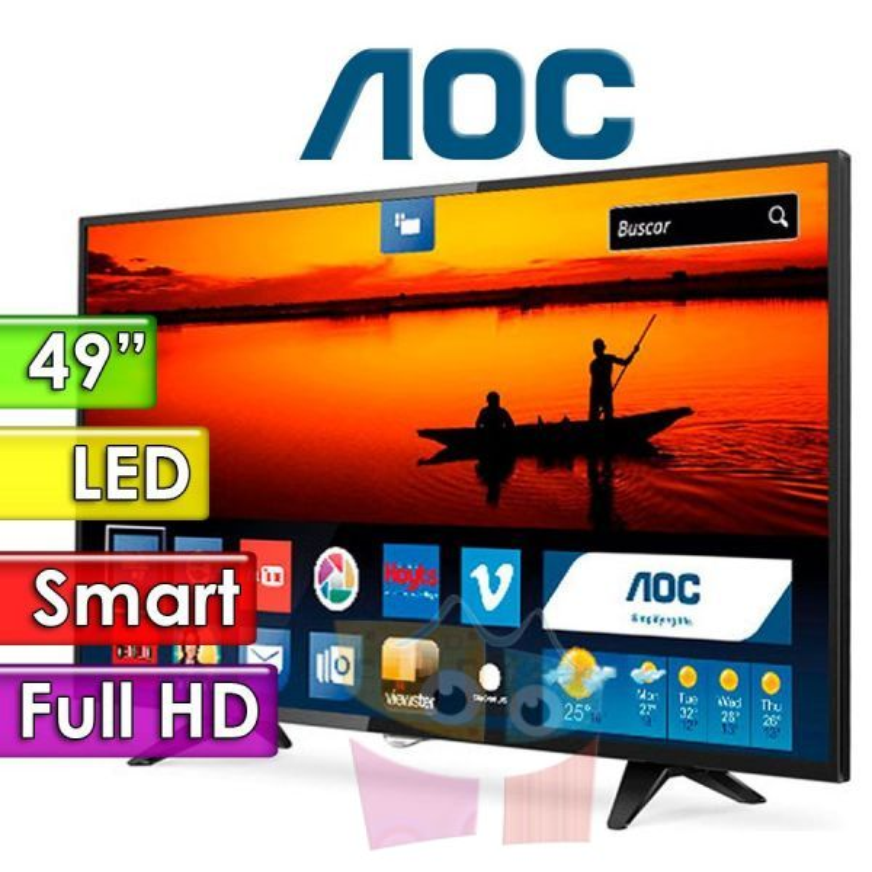 """TV Monitor Led Full HD 49"""" Smart - AOC - LE49F1761/LE49S5970"""