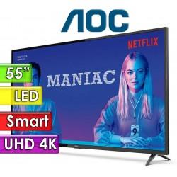 """TV Led Smart 4K UHD 55"""" - AOC - 55U6285"""