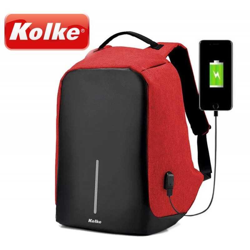 Mochila Anti-Robo con - Kolke - KVM-245 - Roja