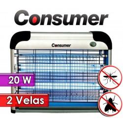 Mata Insectos Eléctrico de 2 Velas 20 Watts - Consumer