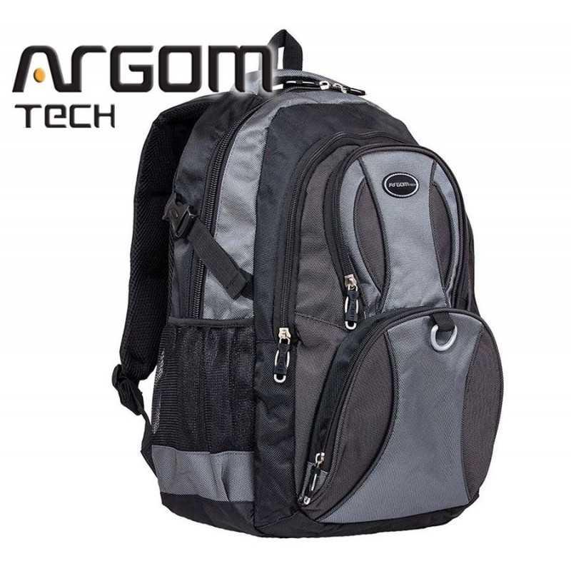 """Mochila Azul para Notebook de 15.6""""  - Argom Tech - Gris"""