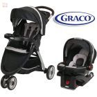 Carrito de bebé + Baby Seat - Graco - Travel System FastAction Fold Sport Negro 1893797