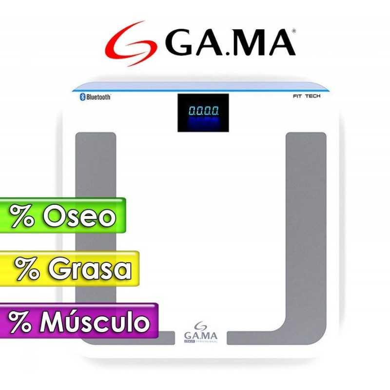 Balanza Digital Inteligente con medidor de Grasa Corporal Bluetooth - GA.MA - FIT TECH 914-3745