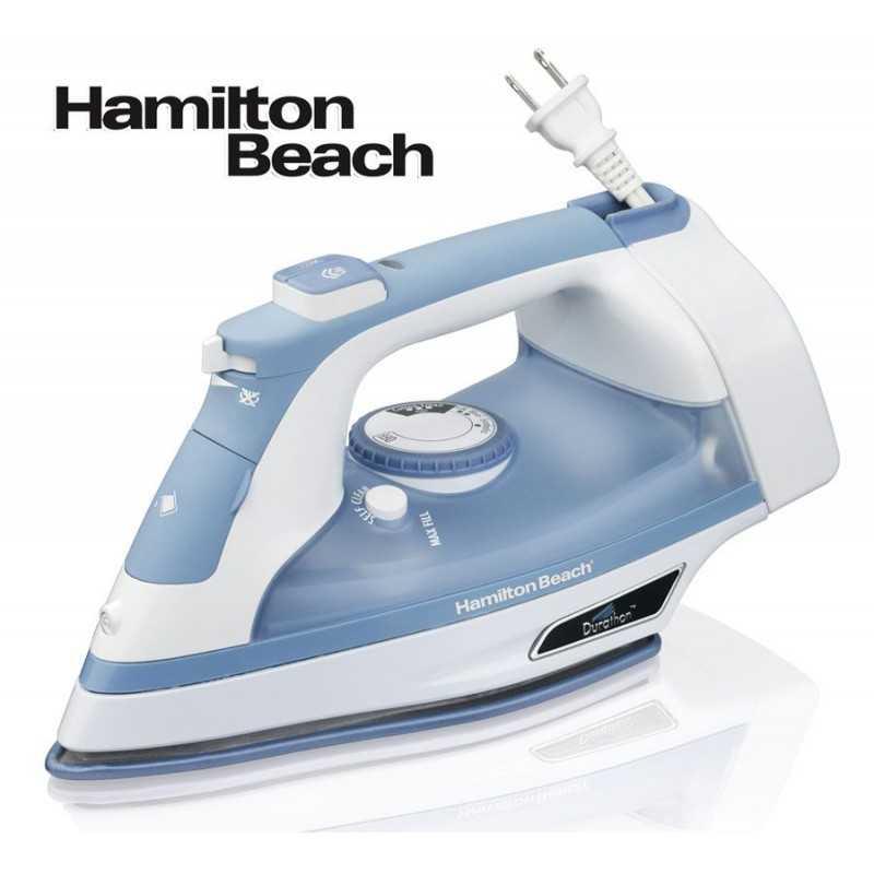 Plancha de Vapor con Guardacable - Suela Antiadherente Durathon - Hamilton Beach - Modelo 19701-CL
