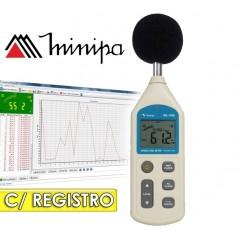 Decibelimetro Digital con Registro y Conexión a PC - Minipa - MSL-1355B