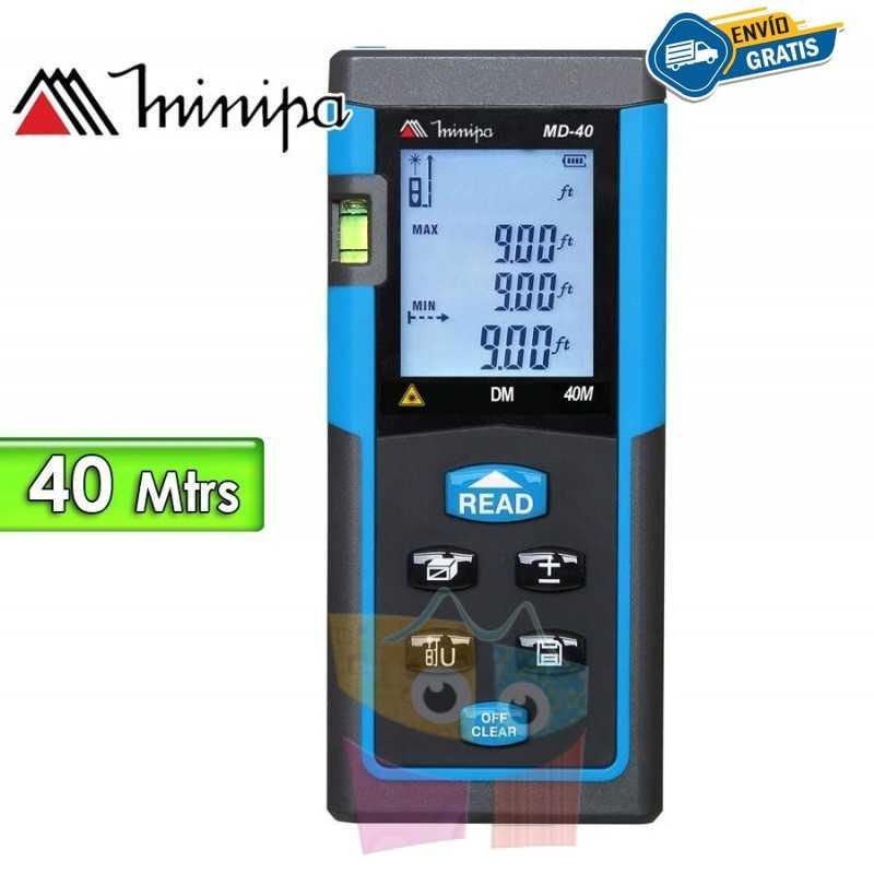 Medidor de Distancia Laser - Minipa - MD-40 - Distancias hasta 40 metros