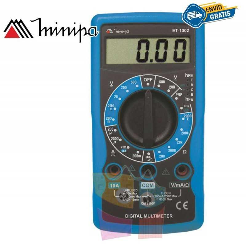 Multimetro Digital - Minipa - ET-1002 - VDC 600V / VAC 600V / ADC 10A