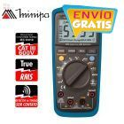 Multimetro Digital - Minipa - ET-1649 - True RMS AC / VDC 1000V / VAC 750V / ADC 10A / AAC 10A