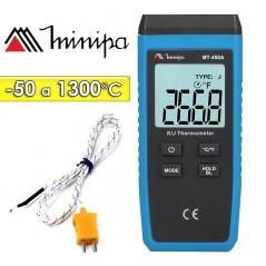 Termómetro Digital - Minipa - MT-450A - Escala -50 a +1300°C