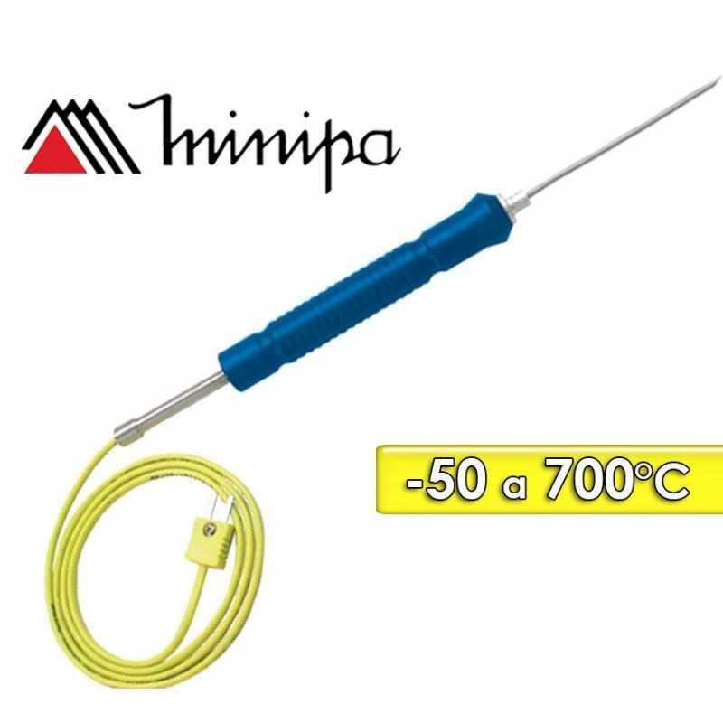 Sonda de Temperatura Tipo K - Minipa - MTK-15 - Escala -50°C a +700°C