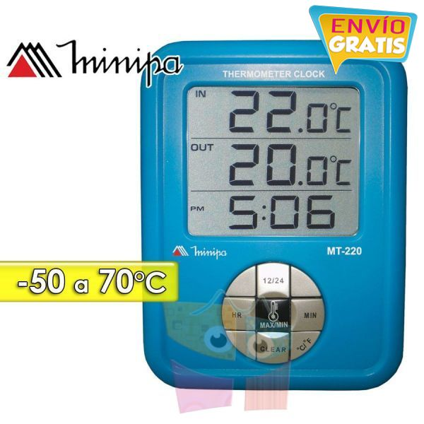 Termómetro Digital - Minipa - MT-220 - Escala -50 a +70°C