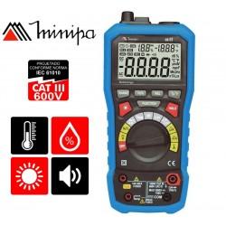 Multimetro 5 en 1  - Minipa - EZ-51 - con funciones de luxímetro, decibelímetro, termómetro e higrómetro