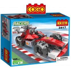 Auto de Formula 1 Racers  - Juego de Construcción - Cogo Blocks - 160 piezas