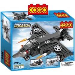 Avion, Lancha, Helicoptero  - Juego de Construcción - Cogo Blocks - 177 piezas