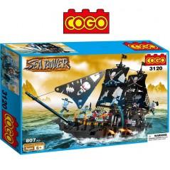 Barco Pirata Gigante Sea Rover - Juego de Construcción - Cogo Blocks - 807 piezas