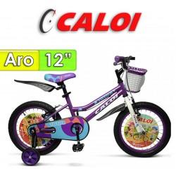 """Bici Aro 12"""" New Totica - Caloi - Lila"""