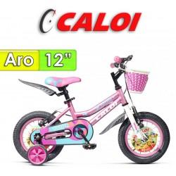 """Bici Aro 12"""" New Totica - Caloi - Rosa"""