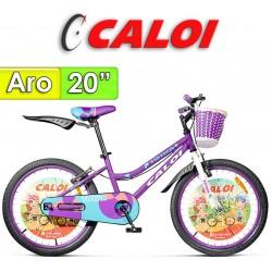 """Bici Aro 20"""" New Totica - Caloi - Lila"""