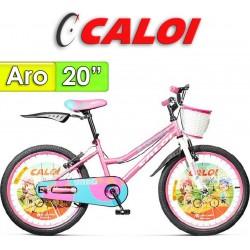 """Bici Aro 20"""" New Totica - Caloi - Rosa"""