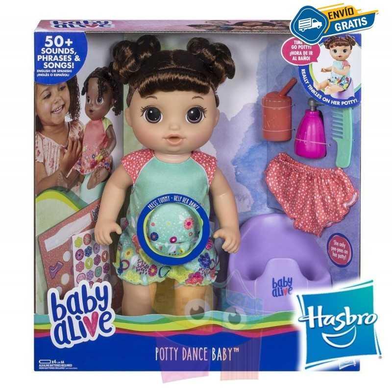 Muñeca Baby Alive Va al Baño - Hasbro - Morena