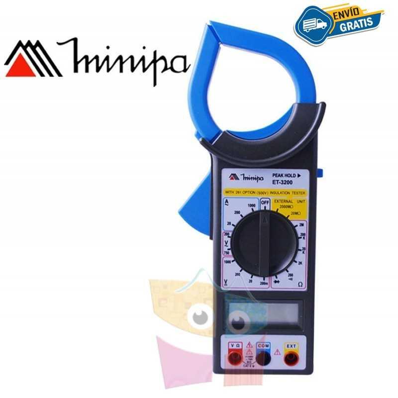 Pinza Amperimetrica - Minipa - ET-3200 - VDC 1000V / VAC 750V / AAC 1000A