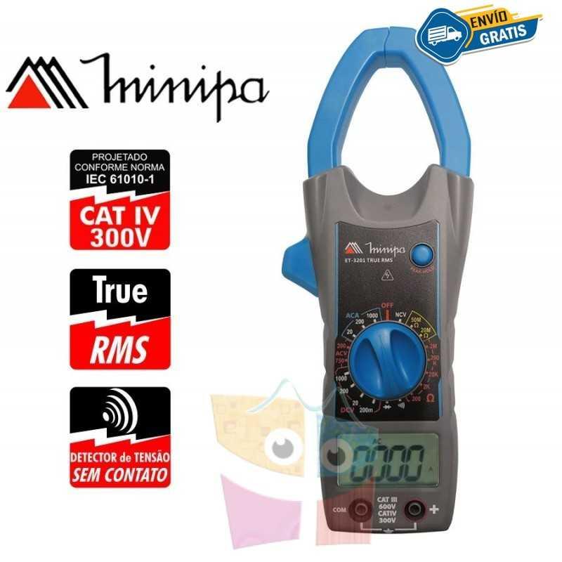 Pinza Amperimetrica - Minipa - ET-3201 - True RMS AC / VDC 1000V / VAC 750V / AAC 1000A