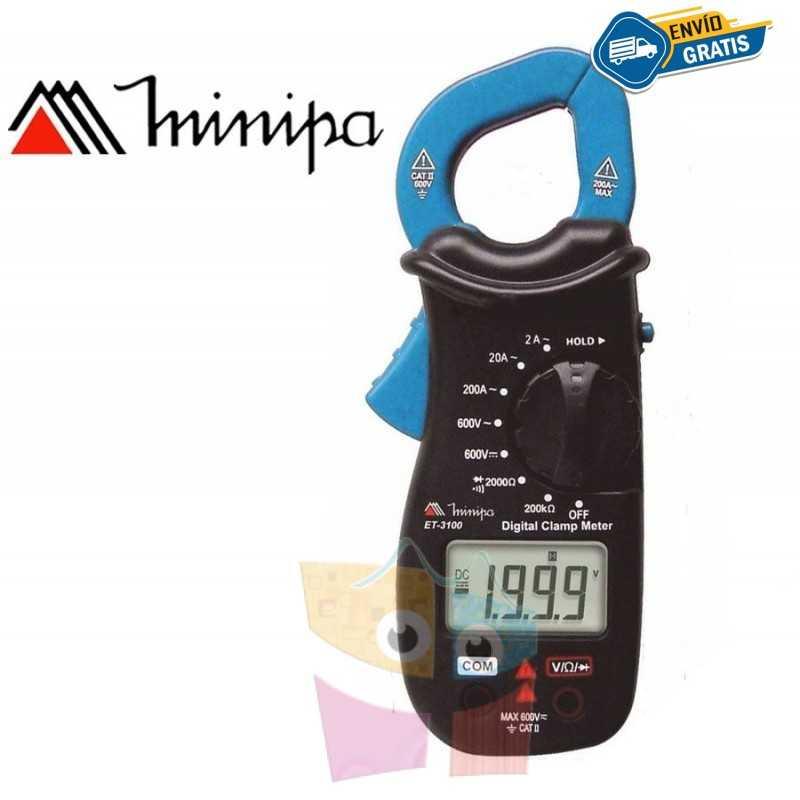Pinza Amperimetrica - Minipa - ET-3100 - VDC 600V / VAC 600V / AAC 200A