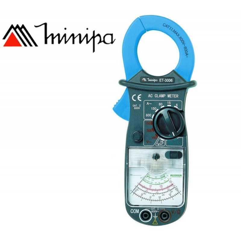 Pinza Amperimetrica Analogica - Minipa - ET-3006 - VDC 75V / VAC 750V / AAC 600A