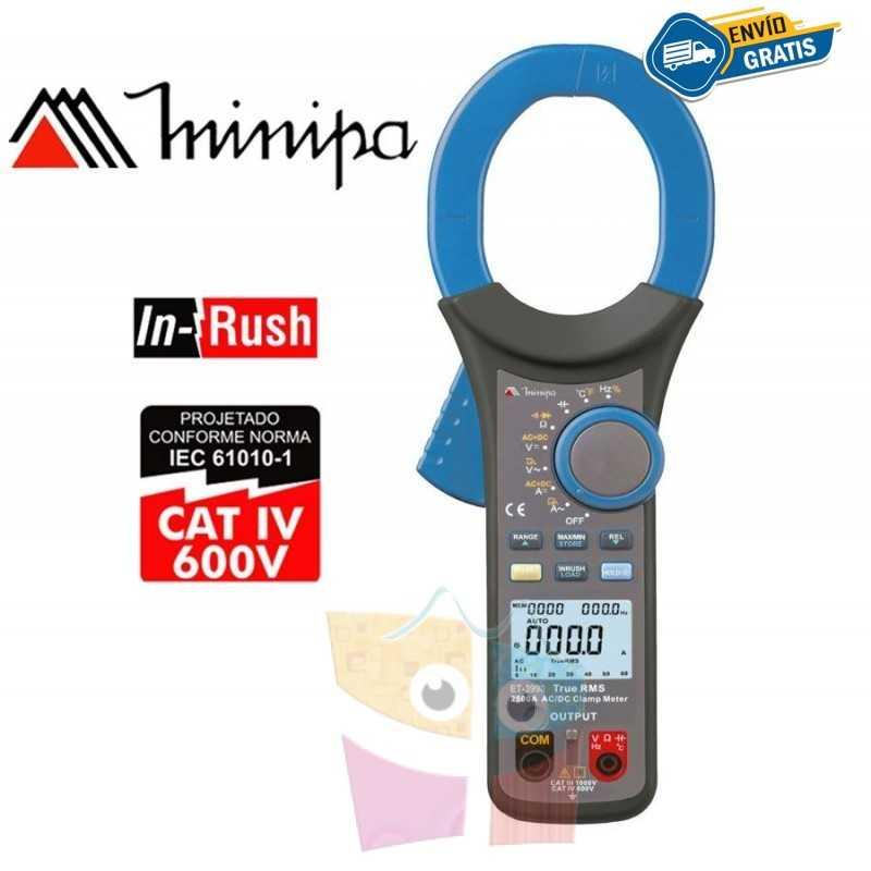 Pinza Amperimetrica - Minipa - ET-3990 - True RMS  AC+DC / VDC 1000V / VAC 1000V / AAC 2500A / ADC 2500A