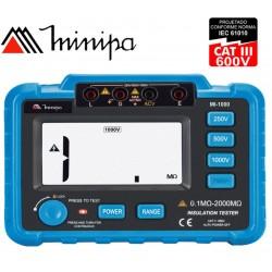 Megohmetro Digital - Minipa - MI-1000 - 2000MΩ / 1000V