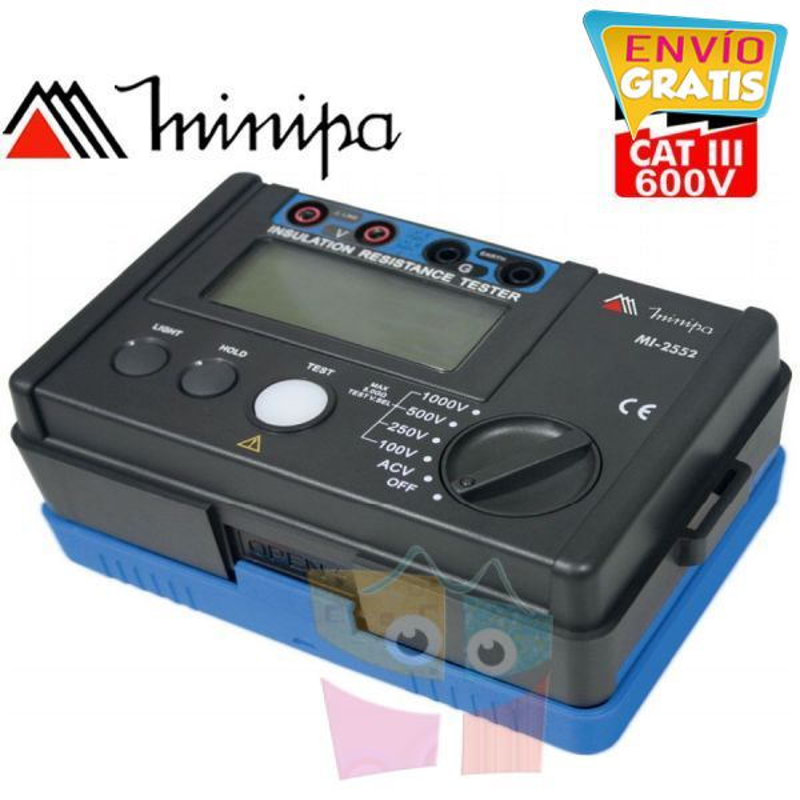 Megometro Digital - Minipa - MI-2552 - 5,5Gohm 1000V