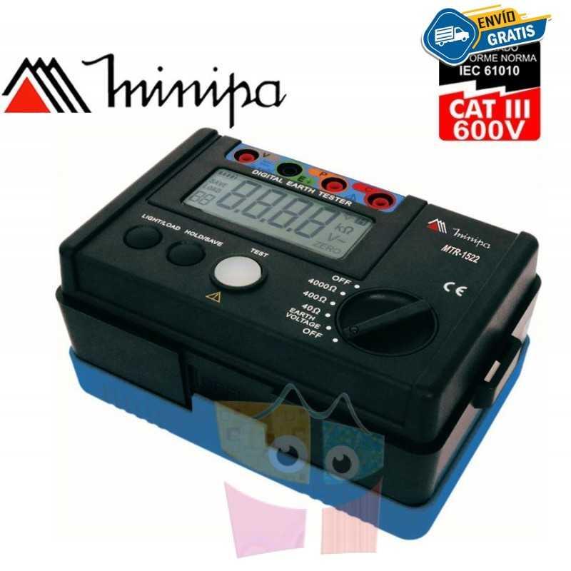 Terrometro Digital - Minipa - MTR-1522 - 4000Ω