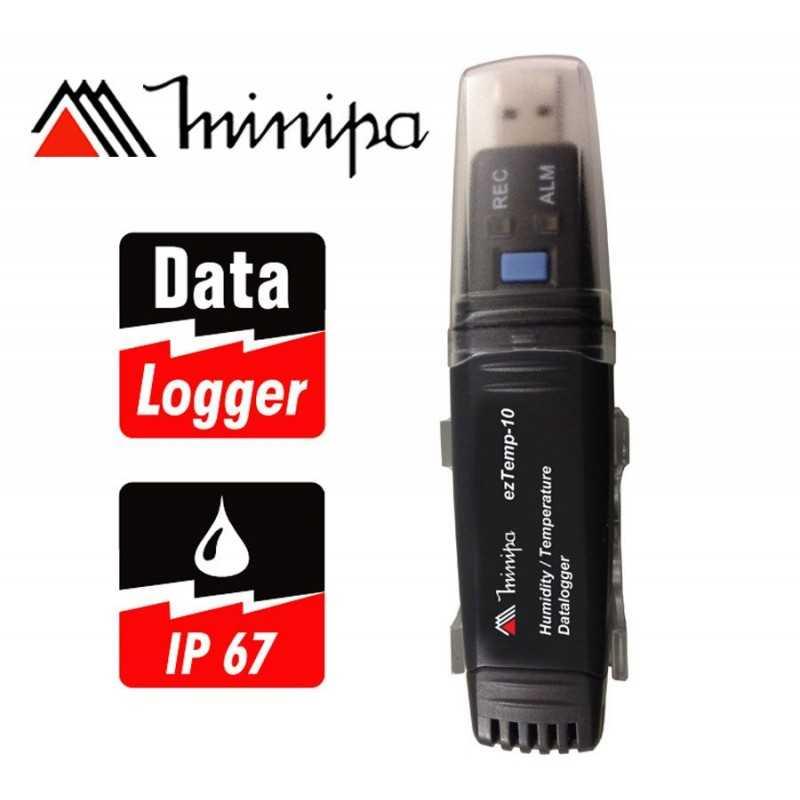 Registrador digital de Temperatura y Humedad - Minipa - ezTemp-10