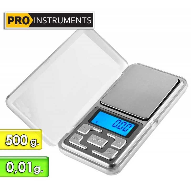 Balanza Digital de bolsillo de Alta Precision - Pro Instruments - Escala 500 g. Presicion 0,01g.