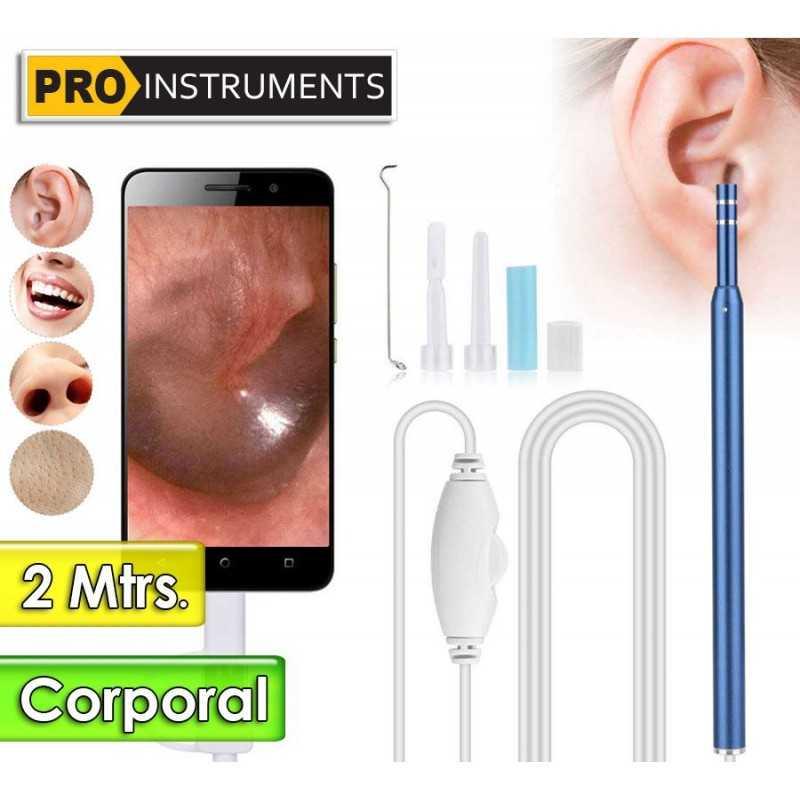 Endoscopio Digital de Inspeccion Corporal - Pro Instruments - 1,3 MegaPixel - Largo 2 Metros - conexión a Celular y PC