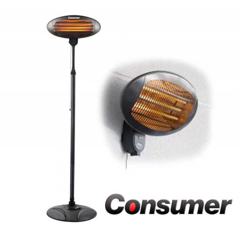 Estufa Eléctrica de Pared Simil Hogar - Consumer - 2000 Watts