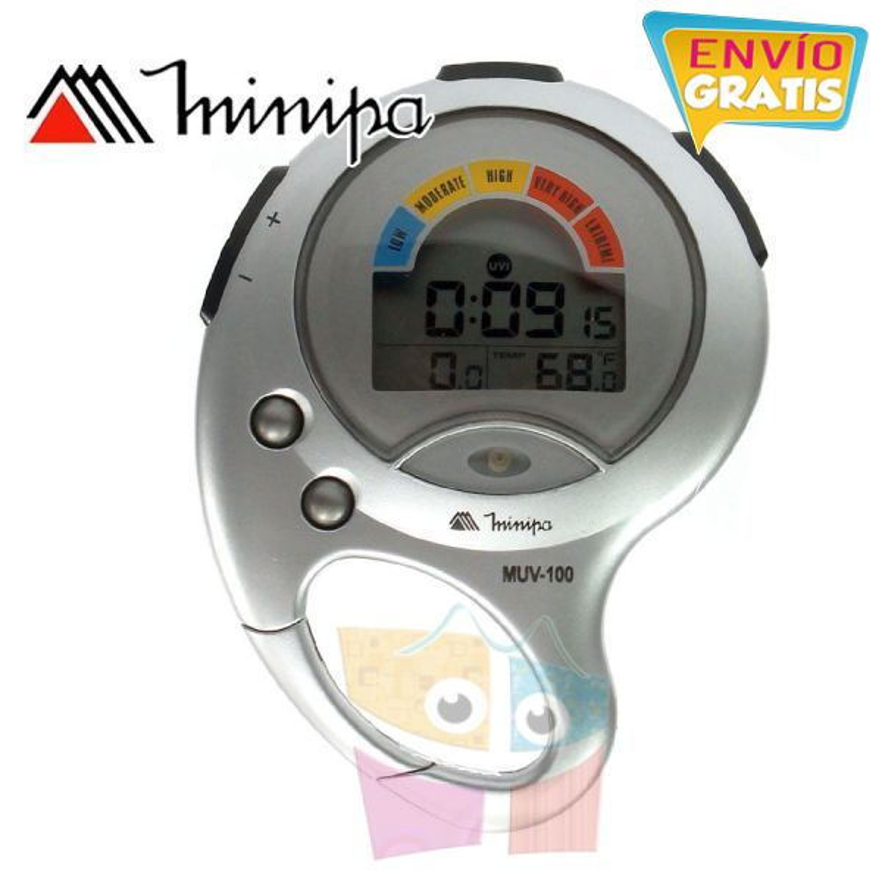 Medidor Radiación Solar Ultravioleta - Minipa - MUV-100