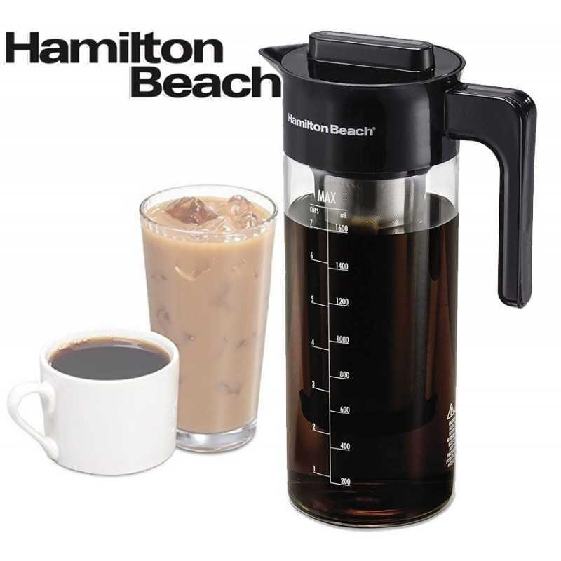 Cafetera de Inmersion e infusor de té helado Jarra de vidrio con filtro de 1,7 L  - Hamilton Beach - 40405R