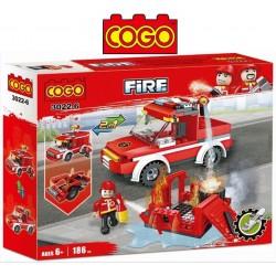 Camion de Bomberos - Juego de Construcción - Cogo Blocks - 186 piezas