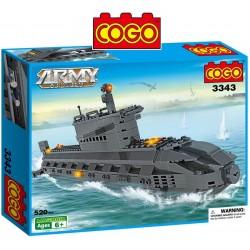 Submarino - Juego de Construcción - Cogo Blocks - 520 piezas