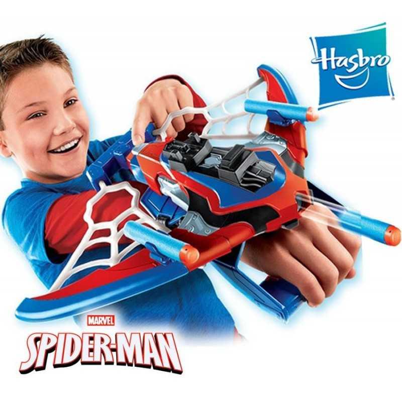 Lanzador Web Shots Spiderbolt - Spider-Man: lejos de casa - Hasbro - NERF