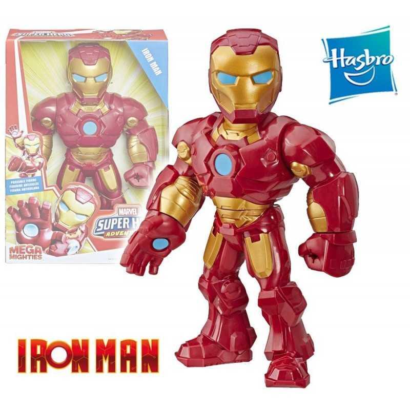 Muñeco Iron Man 25 cms - Hasbro - Mega Mighties Playskool Heroes