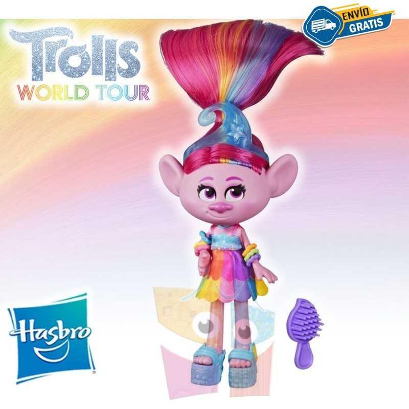 Muñeca Poppy Glamour - Trolls: World Tour - Hasbro