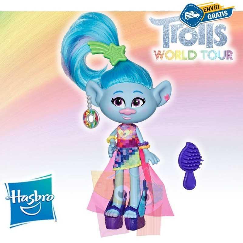 Muñeca Seda Glamour - Trolls: World Tour - Hasbro