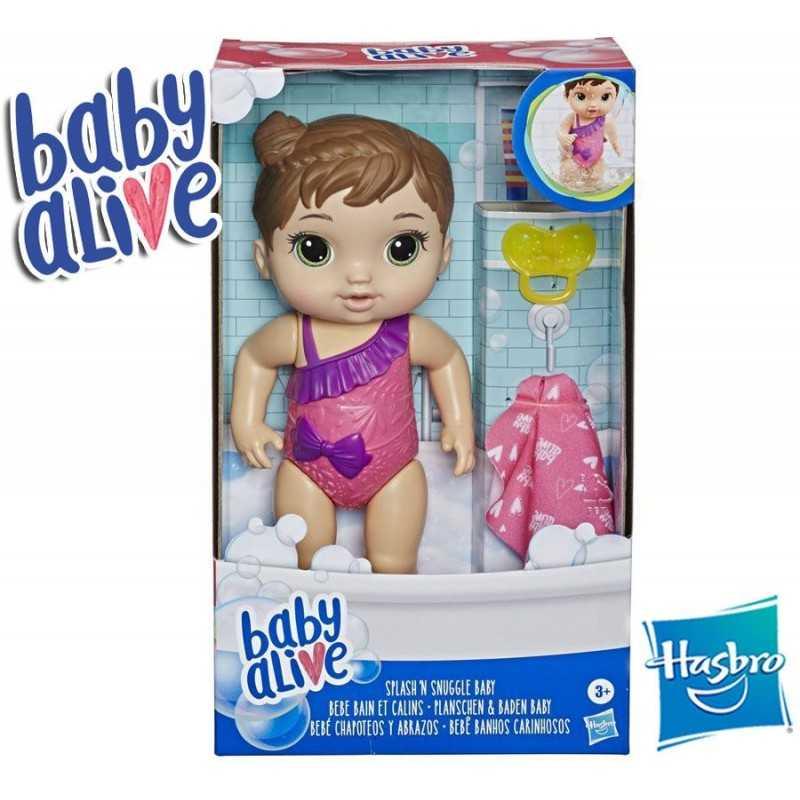 Bebe Chapoteos y Abrazos Castaña - Baby Alive - Hasbro