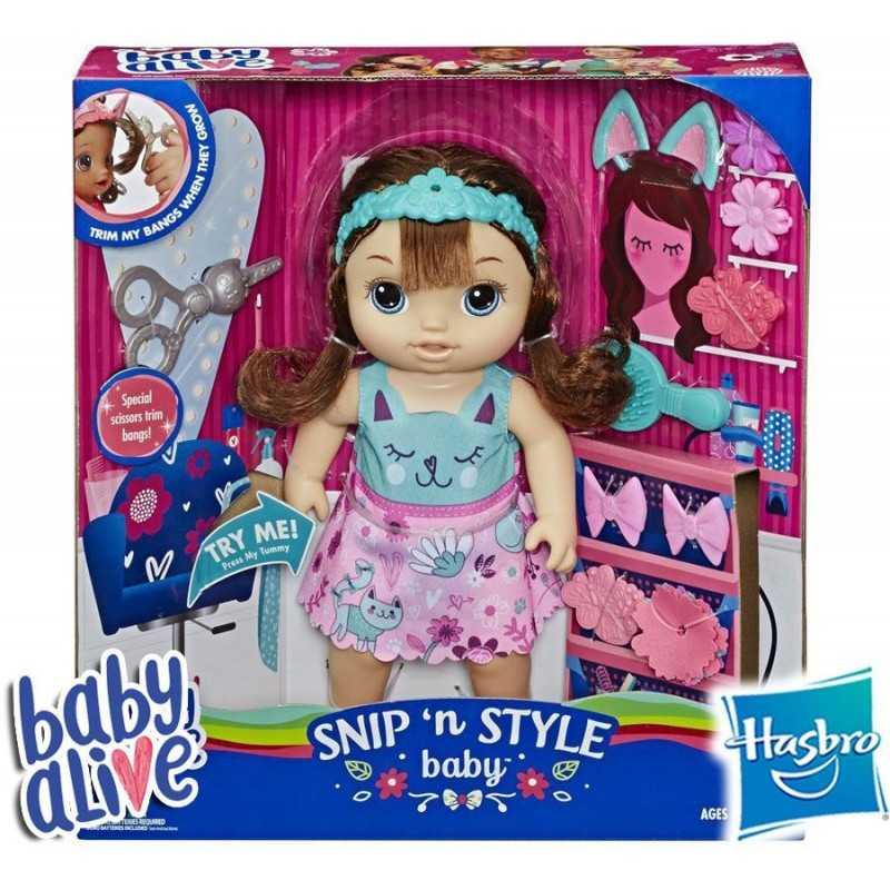 Bebe Peinado Magico Castaña- Baby Alive - Hasbro