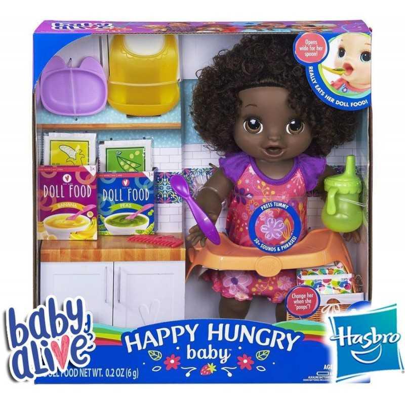 Bebe Come Feliz Morena - Baby Alive - Hasbro